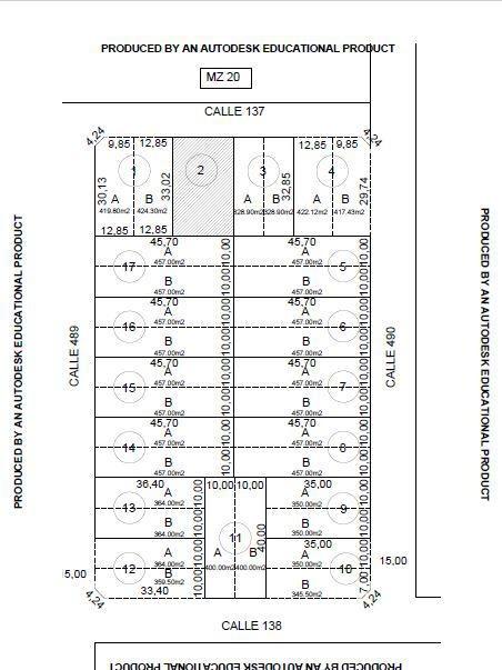 terreno venta 10 x 40 mts -todos los servicios -joaquín gorina