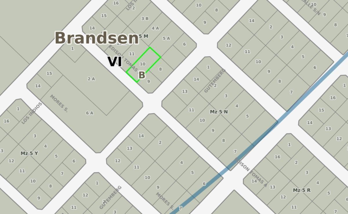 terreno venta -10 x 44,7 mts-447 mts 2  - barrio la dolly