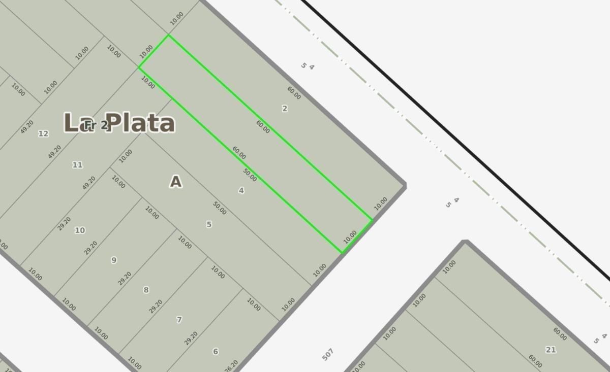 terreno  venta 10 x 60 mts -600 mts 2- manuel b gonnet