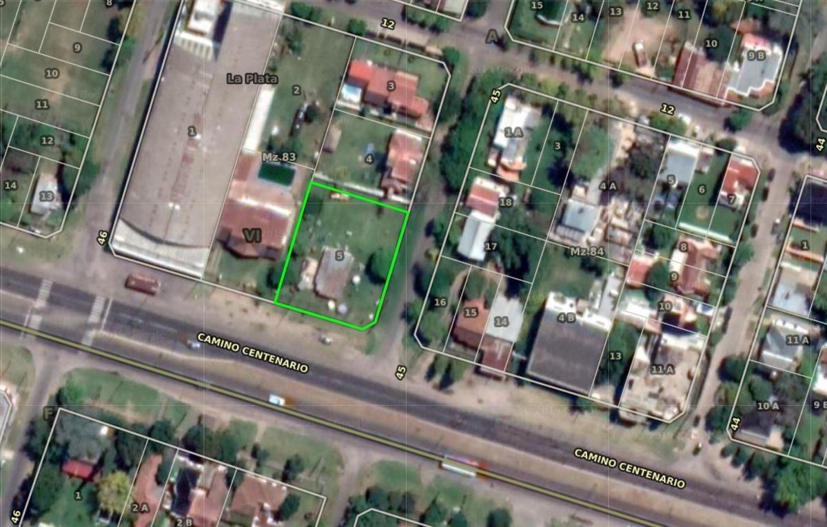terreno venta- 1,026 mts 2 sobre camino centenario -todos los servicios - villa elisa