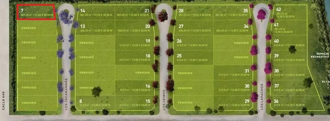 terreno venta -12,50 x 30,50 mts -381,25 mts 2 - city bell