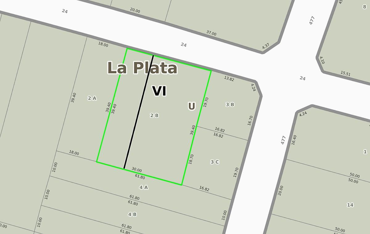 terreno venta 12,84 mts x 39,40 mts-506 mts2 -apto banco  - city bell