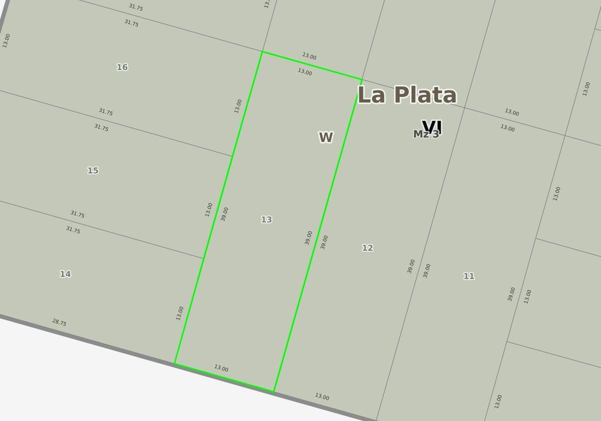 terreno venta  13 x 39 mts- 507 mts 2 -apto banco - city bell