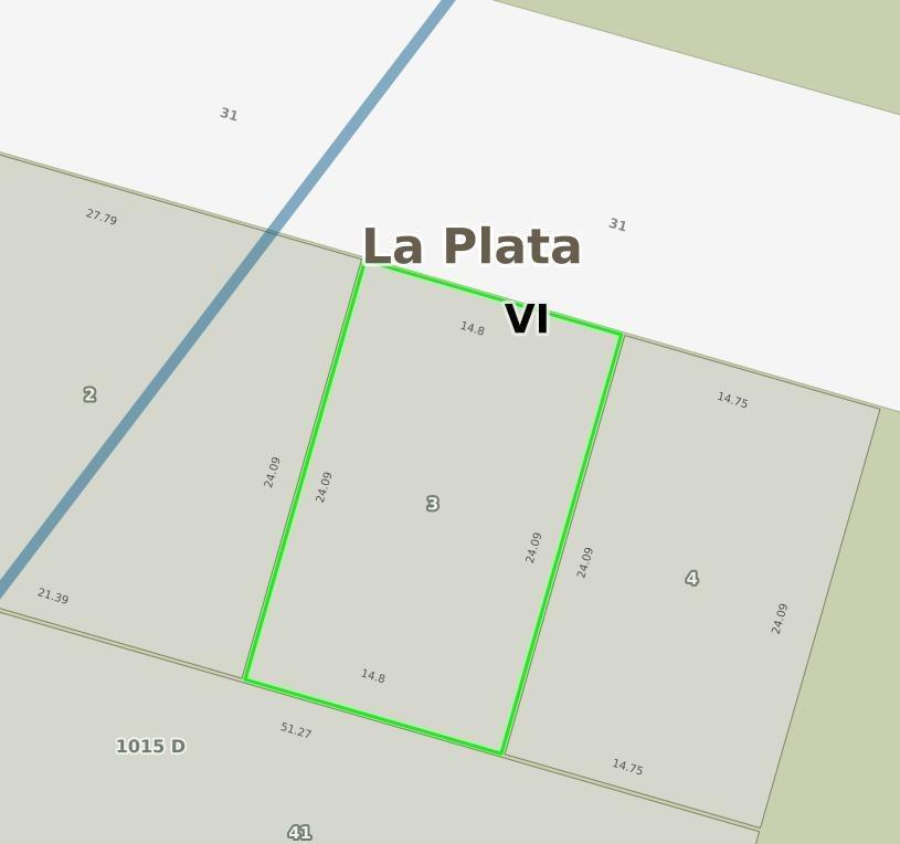 terreno venta 14,80 x 24,09 mts-357 mts 2 -manuel gonnet-barrio cerrado san benjamín