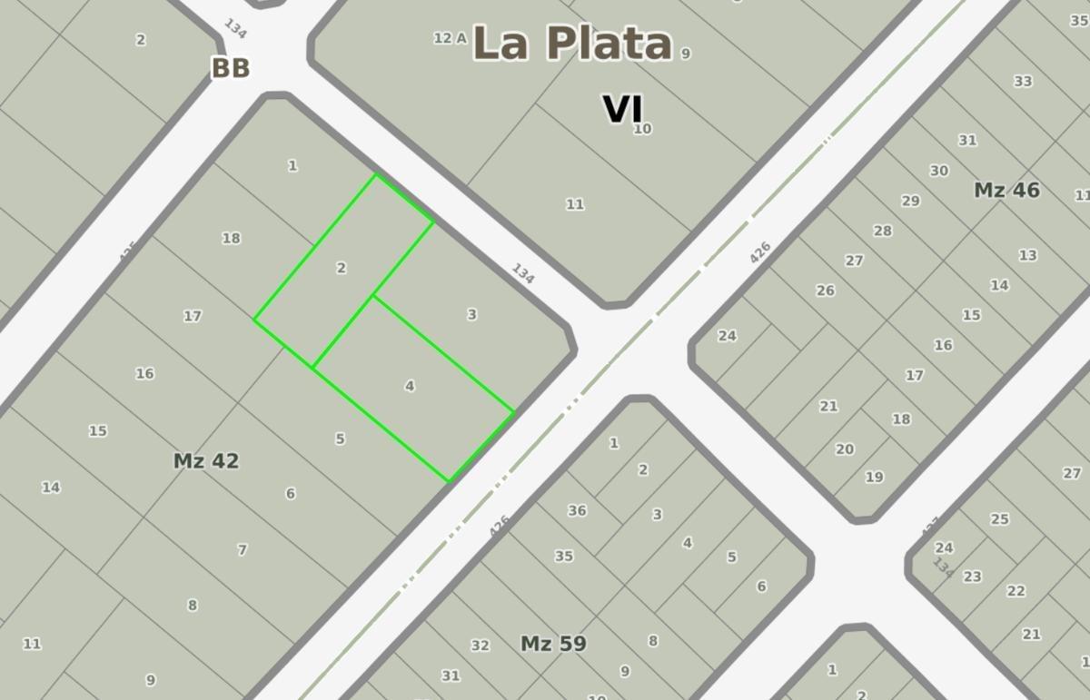 terreno venta 1877 mts 2 -salida a dos calles - villa elisa