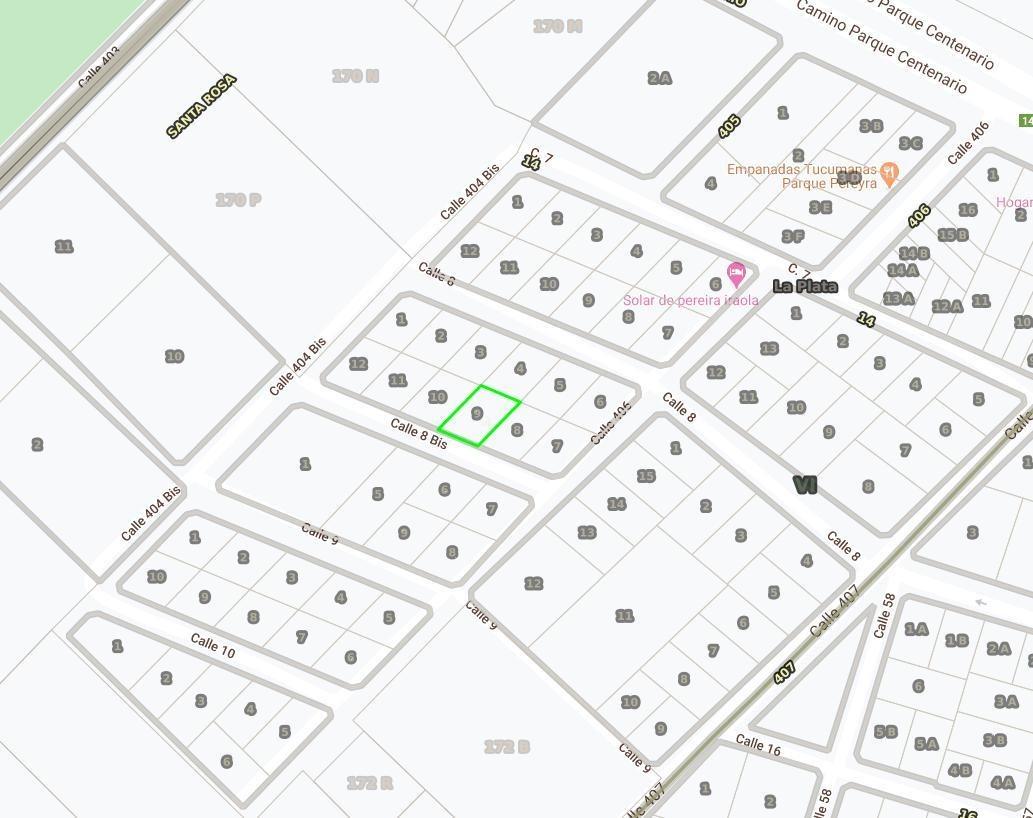 terreno venta 20 x 30 mts-600 mts 2  - entre caminos - villa elisa