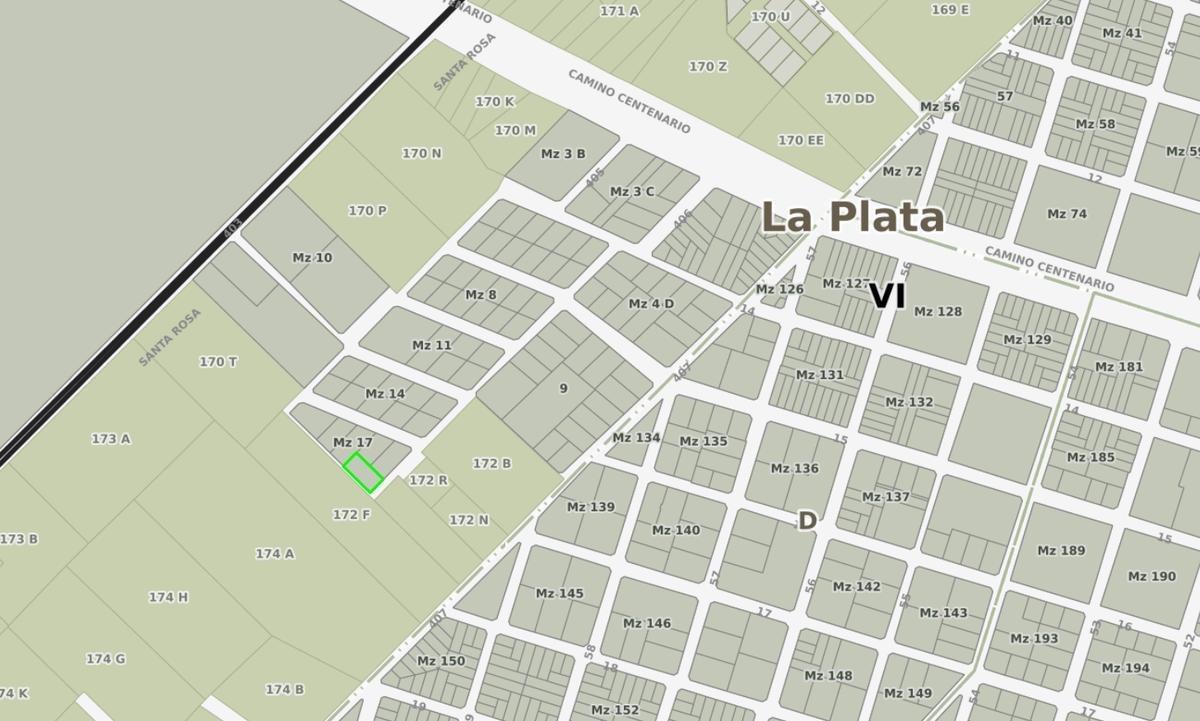 terreno venta -20 x 40 mts  -800 mts 2- entre caminos - villa elisa