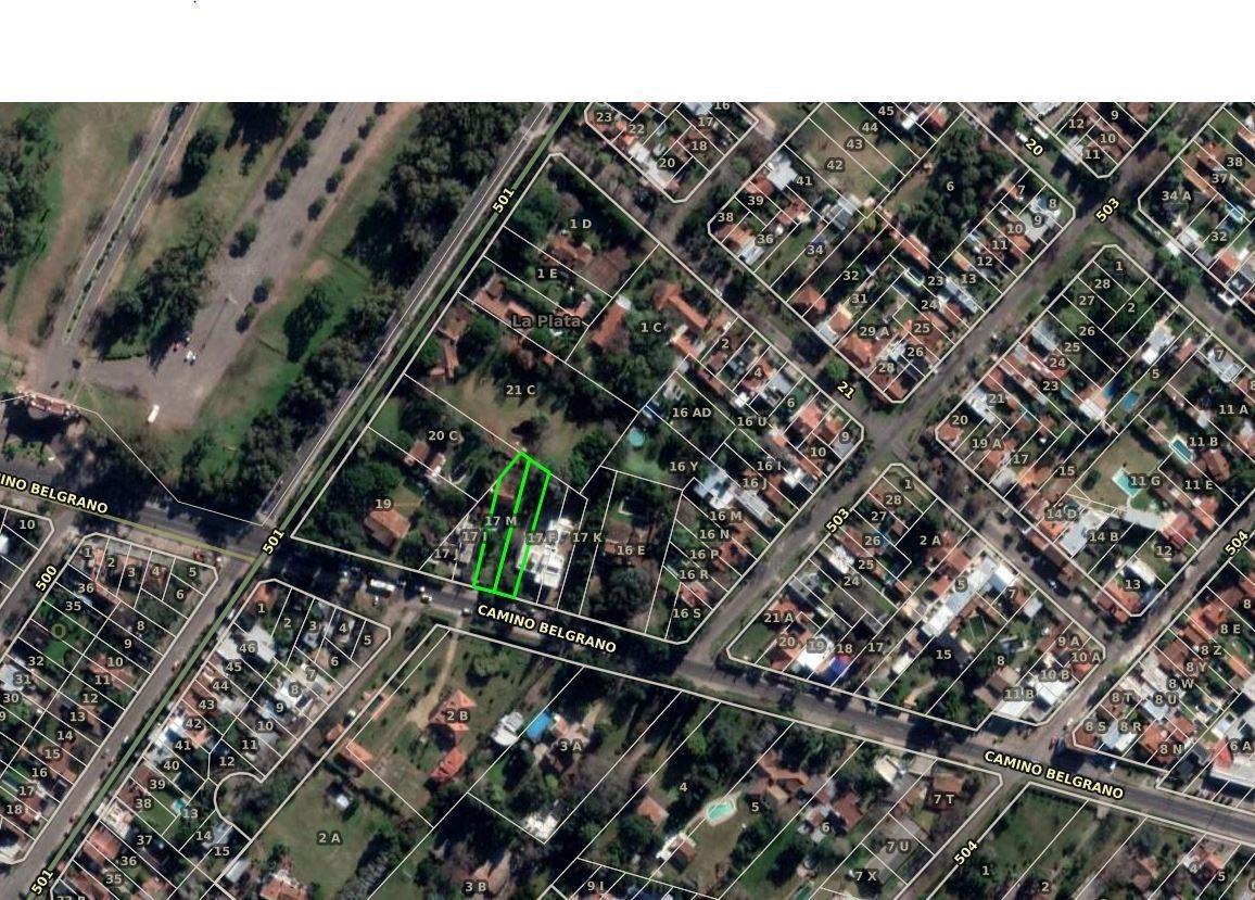 terreno venta 20 x 62 mts  -1,235 mts 2 -sobre camino belgrano