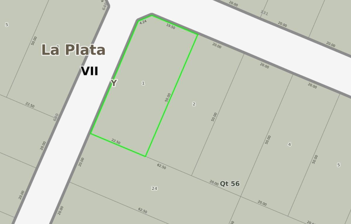 terreno venta -22,50 x 50 mts-1120 mts 2- la nueva hermosura