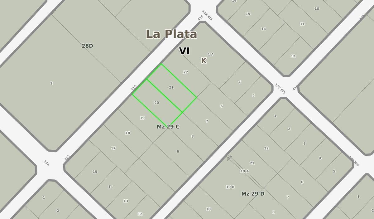 terreno venta 40 x 46,50 mts-1,860 mts 2 -villa elisa