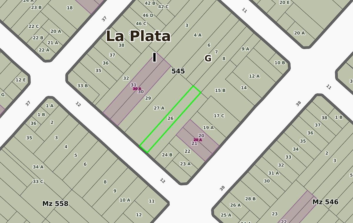 terreno venta 7,50 x 60 mts -450 mts 2-la plata