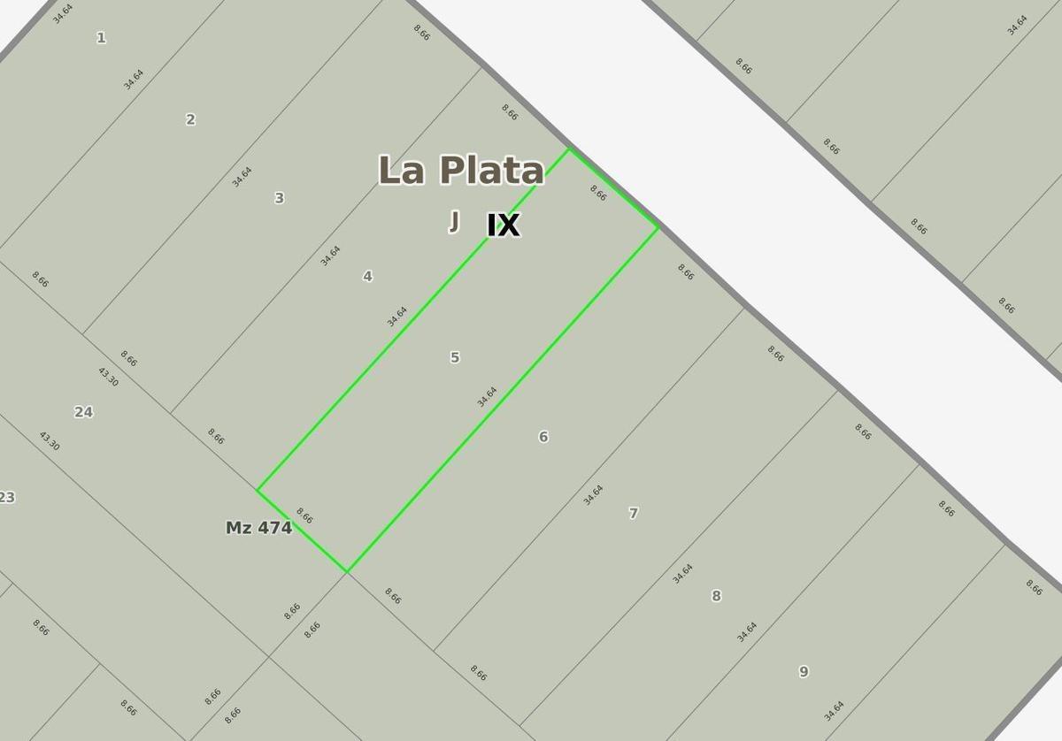 terreno venta 8,66 mts x 34,64 mts.  - villa parque sicardi