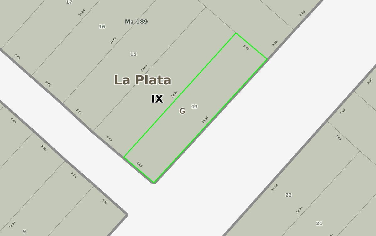 terreno venta 8,66 x 34,64 mts -300 mts 2- villa elvira