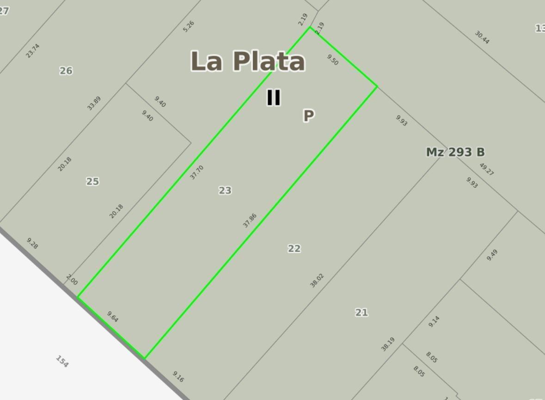 terreno  venta -9,64 x 37,86 mts -todos los servicios- los hornos