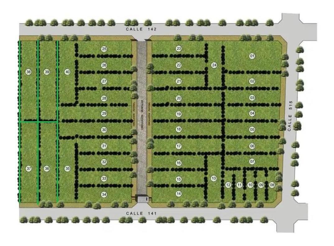 terreno venta a la calle 14 x 60 mts - 840 mts 2 -financiación -san patricio 2  - barrio gambier