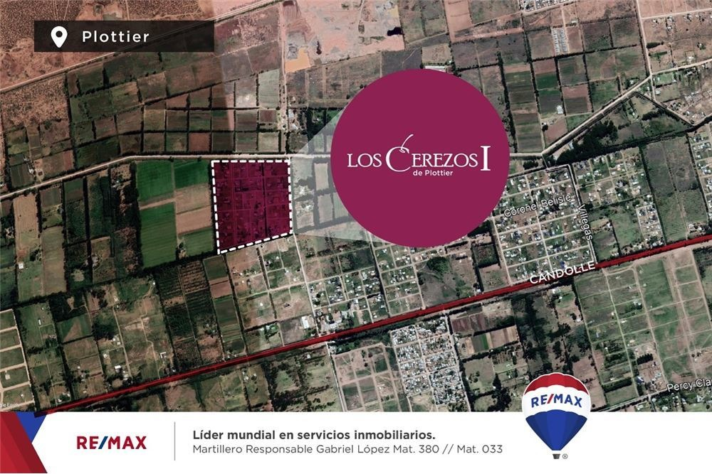 terreno venta  b° los cerezos i plottier