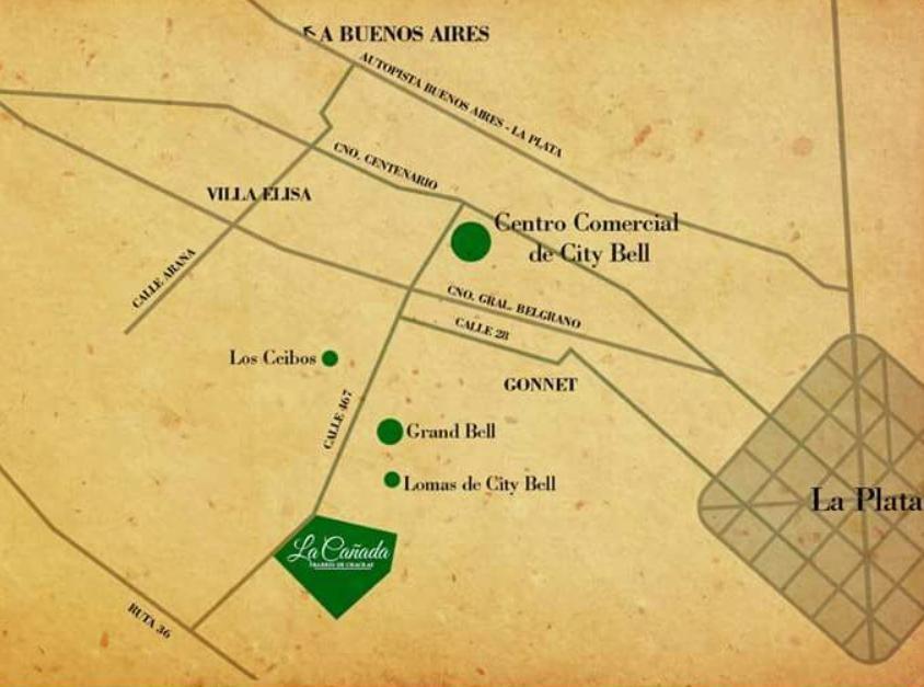terreno  venta -barrio la cañada -34 x 70 mts - city bell