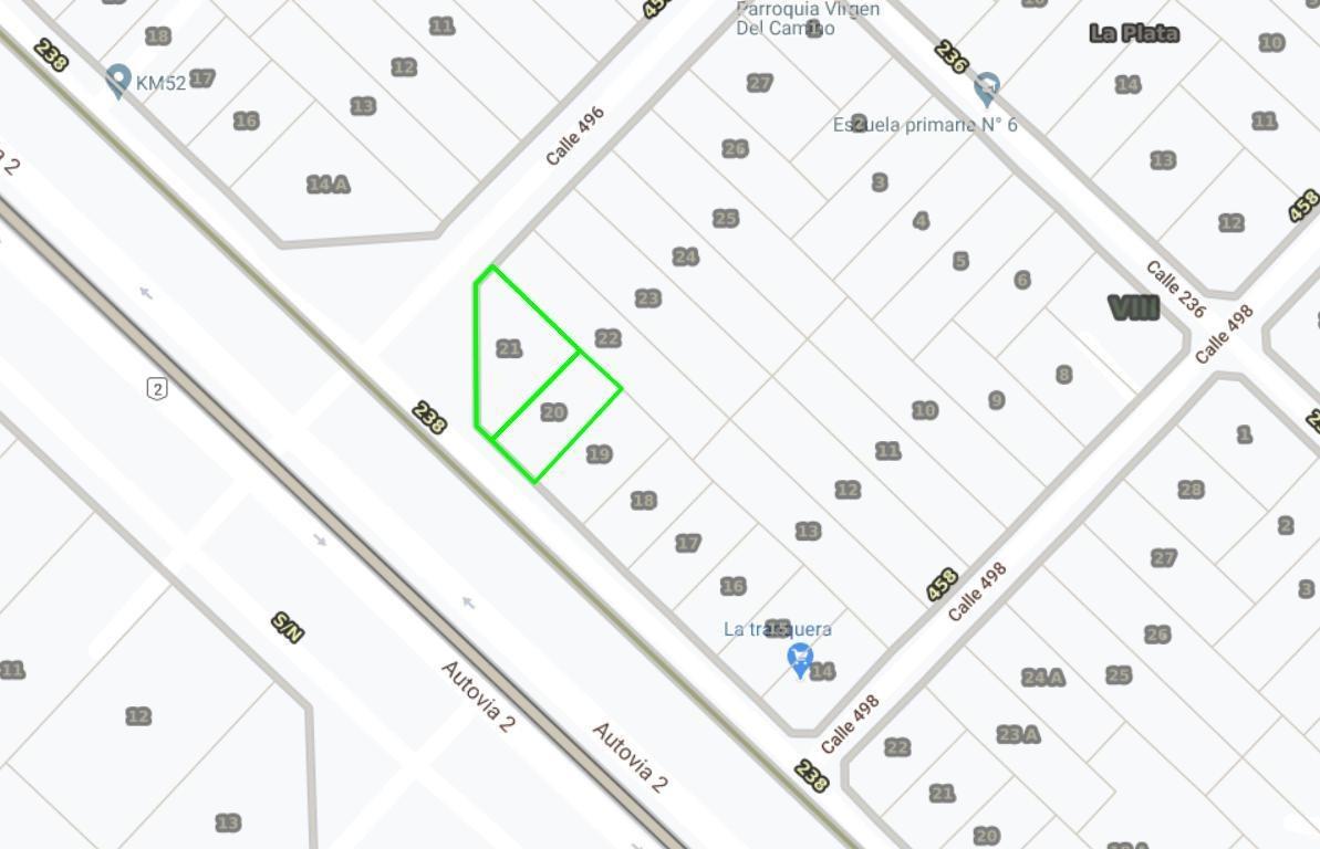 terreno venta esquina 2,184 mts 2 totales -ruta 2 km 52 - abasto