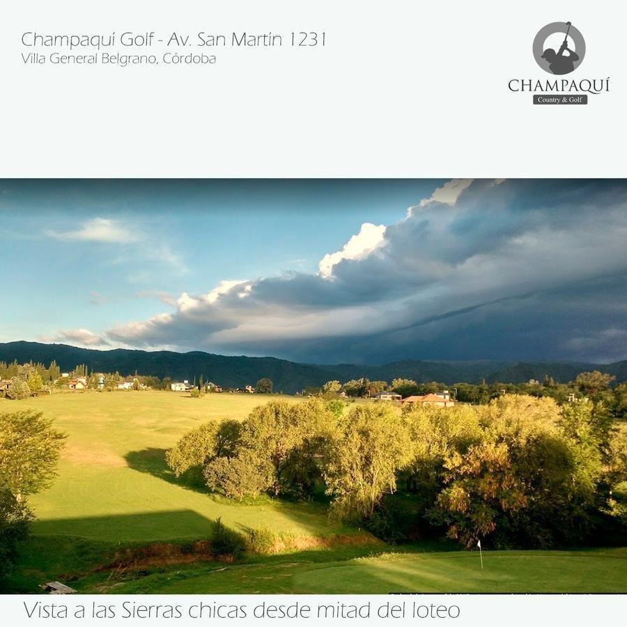terreno - villa general belgrano - champaqui golf