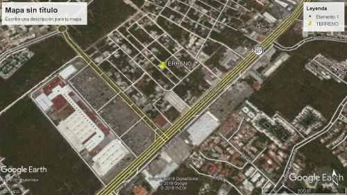 terreno zona centro maya playa del carmen p2461