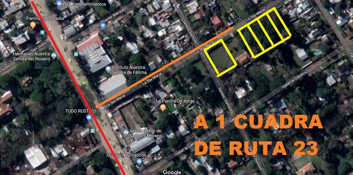 terrenos a 1 cuadra de ruta 23