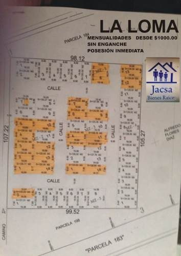 terrenos al costado de calle  facilidades de pago  12-24-36