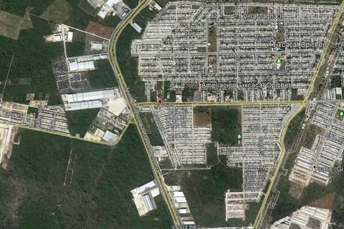 terrenos comercial en paseos de opichén sobre avenida principal