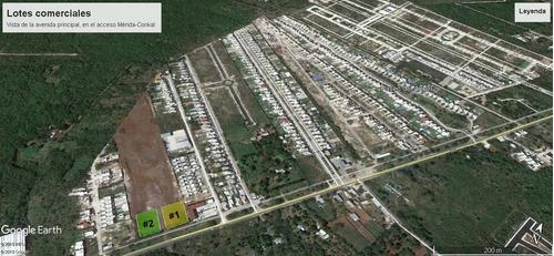 terrenos comerciales de más de 3,000 m2 en el acceso a conkal, mérida norte