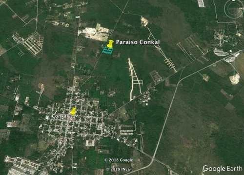 terrenos con servicios financiamiento en conkal de 300m2 hasta 650m2