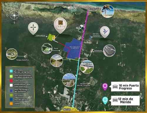 terrenos de inversión a la venta en progreso yucatan