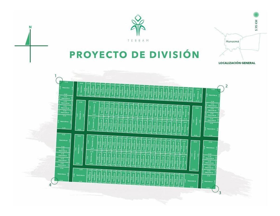 terrenos de inversión en hunucmá, proyecto terram