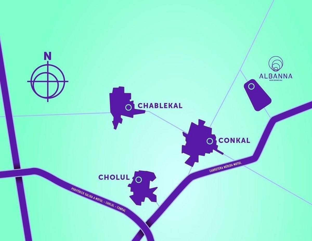 terrenos dentro de privada en conkal