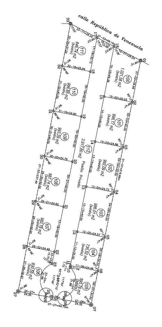 terrenos en barrio fatima