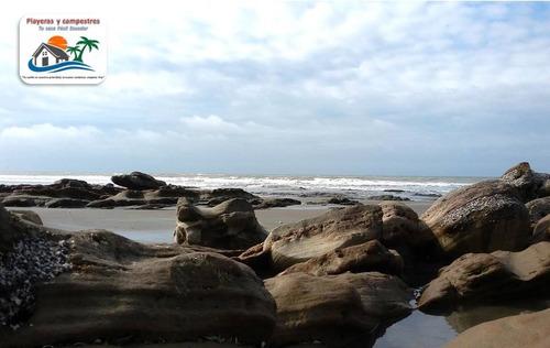 terrenos en playa paufi - esmeraldas desde 300 mts2