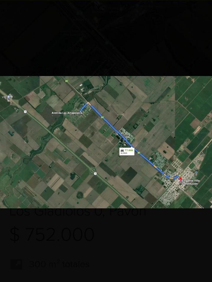 terrenos en rincón de pavon. 400 m2 c/ uno. precio x c/ uno