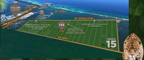 terrenos en tulum en venta en la veleta listo para cosntruir