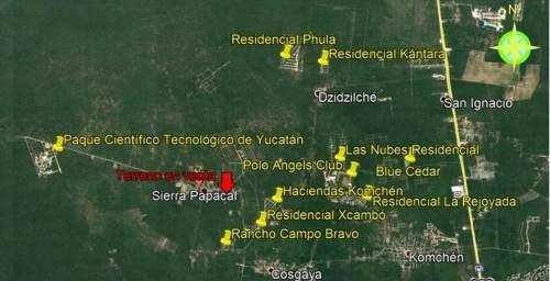 terrenos en venta al norte de mérida, sierra papacal