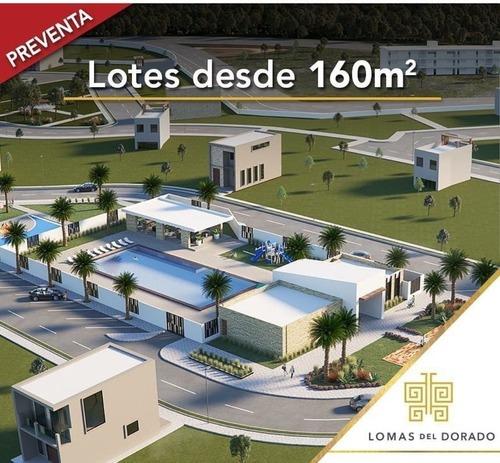 terrenos en venta desde 160 m2 en fraccionamiento lomas del dorado