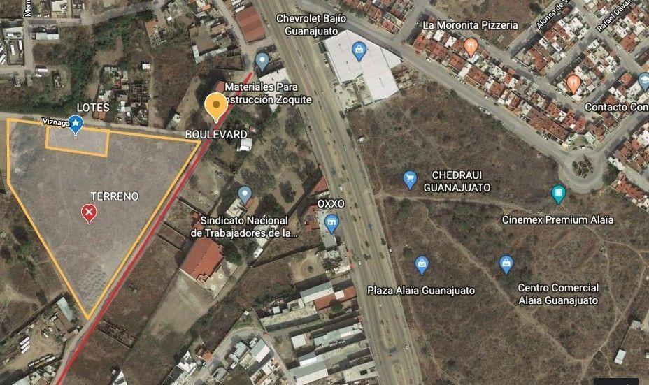 terrenos en venta en guanajuato en la zona urbana cerca de la chevrolet