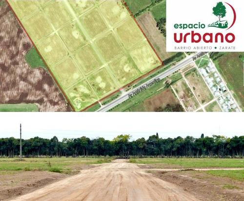 terrenos en venta en zarate barrio espacio urbano