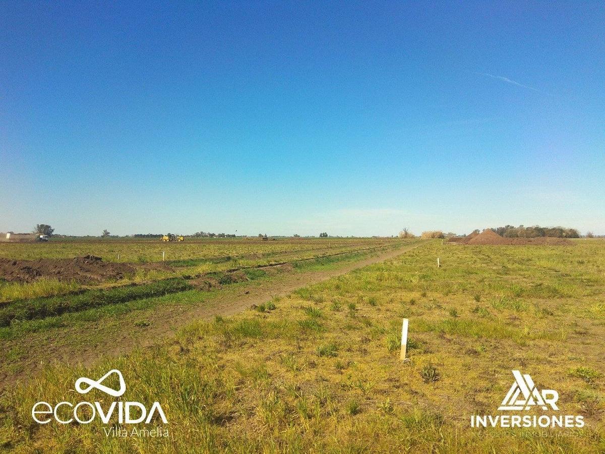 terrenos en villa amelia - ideal inversion ajustable al indici de construccion