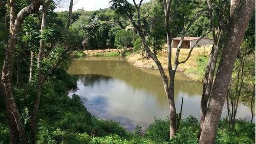 terrenos lindos p chacaras com lago para pesca com portaria