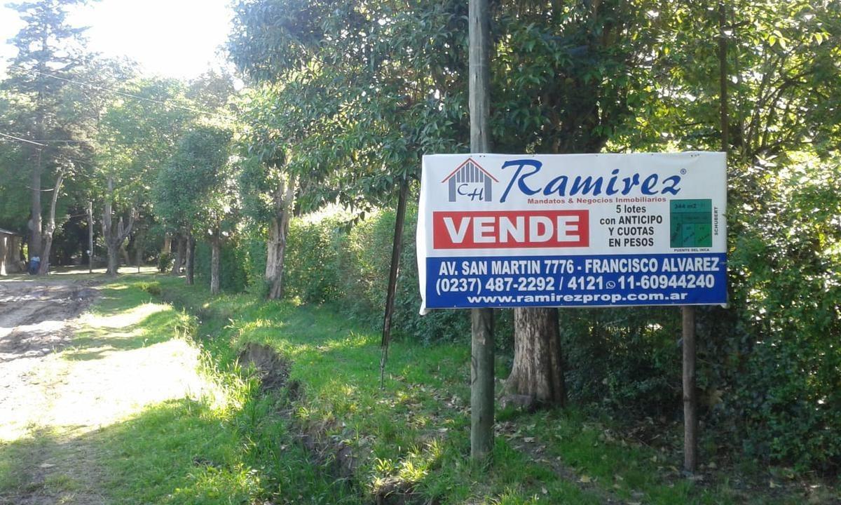 terrenos lotes en venta - francisco alvarez, moreno - (ref. 2137)