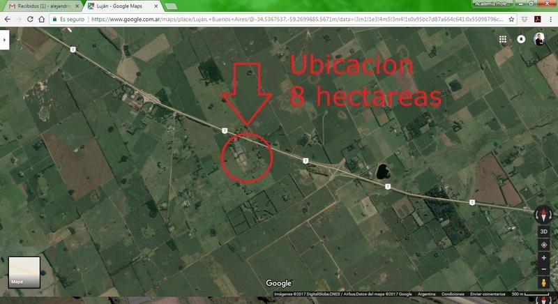 terrenos lotes- hectareas con edificaciones cerca de lujan