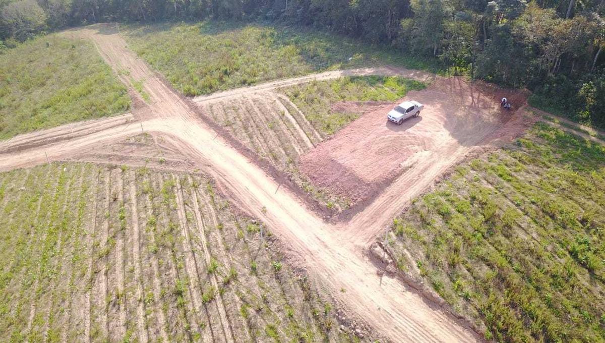 terrenos na planta em ibiúna 600m² livres p/ construir aj