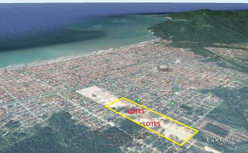 terrenos parcelados em peruíbe 300m² entrada + parcelas