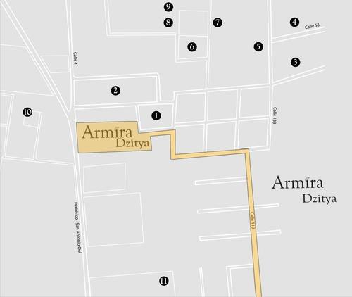 terrenos residencial  armira  en dzitya, mérida