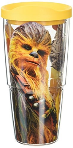 Tervis 1292439 Solo a Star Wars Story Chewie Copilot Insulated Tumbler with Wrap and Yellow Lid 24oz Clear