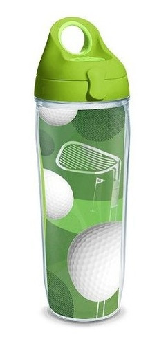 tervis golf balls wrap water bottle with lime green wb lid,