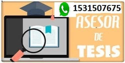 tesis, asesoría o creación, tesinas, investigaciones